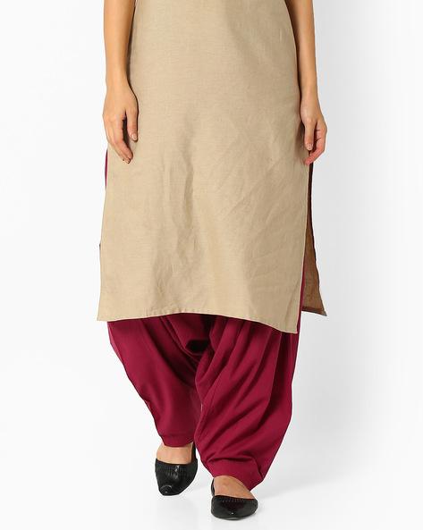 Cotton Patiala Pants By Stylenmart ( Cherry )