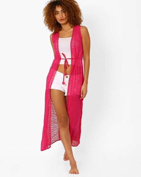 Lace Maxi Cover-Up By PrettySecrets ( Pink )