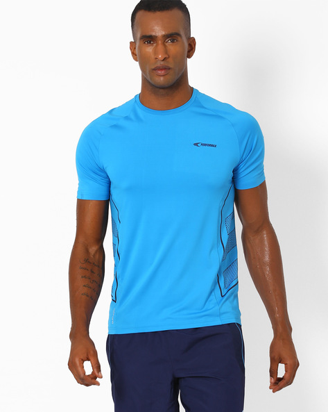 Crew-Neck T-shirt With QuickDry By PERFORMAX ( Blue )
