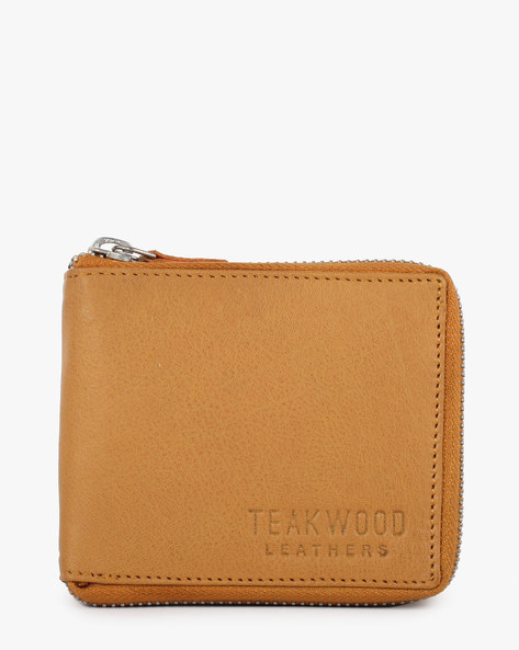Leather Bi-Fold Wallet By TEAKWOOD LEATHERS ( Yellow )