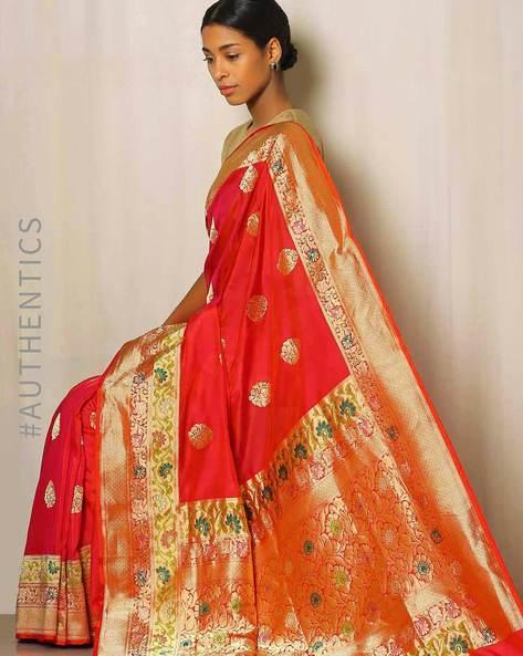 Banarasi Pure Silk Katan Butidar Saree By Indie Picks ( Maroon ) - 460043947001