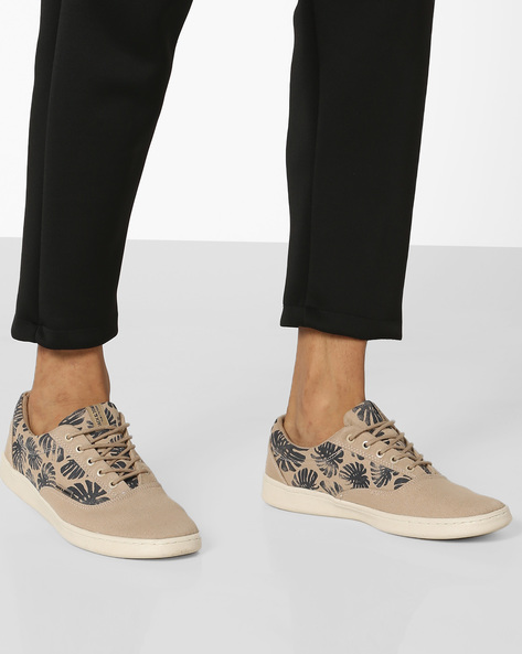 Graphic Print Casual Shoes By Jack & Jones ( Grey )