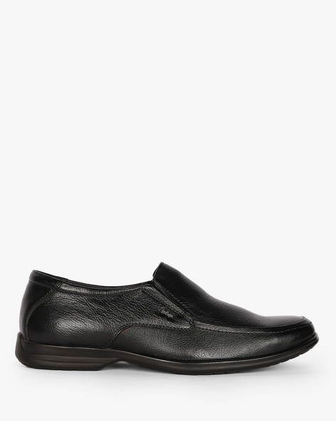 Textured Genuine Leather Formal Shoes By Lee Cooper ( Black )