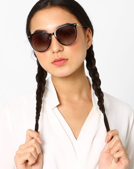 Polarised Cat-Eye Sunglasses By Macv ( Brown )