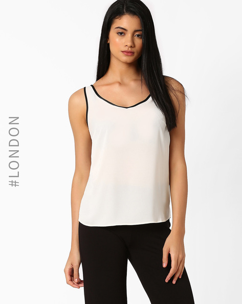 V-neck Vest Top By Marks & Spencer ( White )