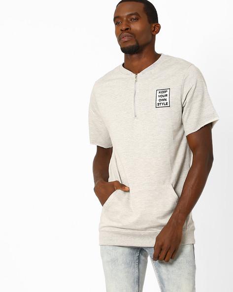 Sweatshirt With Kangaroo Pocket By ADAMO LONDON ( Greymelange )
