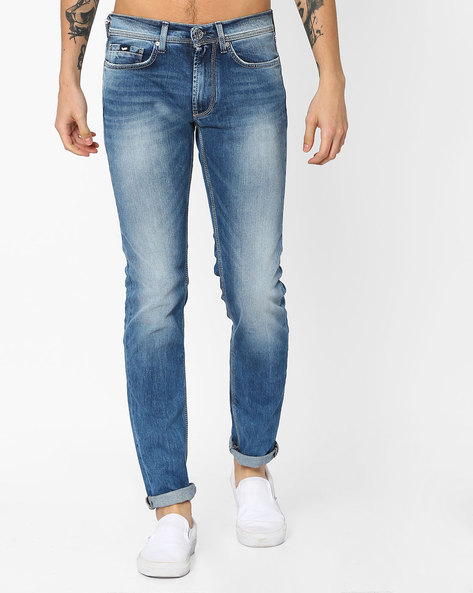 Slim Fit Lightly Washed Jeans By GAS ( Wk22 )
