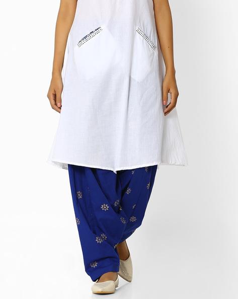 Printed Patiala Pants With Dupatta By AVAASA MIX N' MATCH ( Navy )