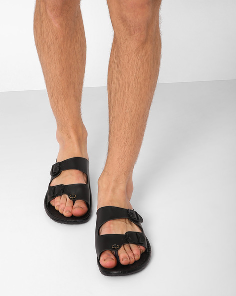 Flip-Flops With Buckle Detailing By Funk ( Black )
