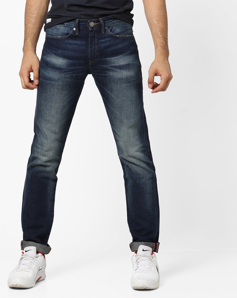 511 Mid-Washed Slim Fit Jeans By LEVIS ( Blue )