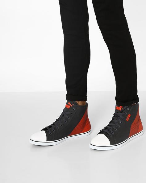 Streetballer Colourblock High-Top Shoes By Puma ( Grey )