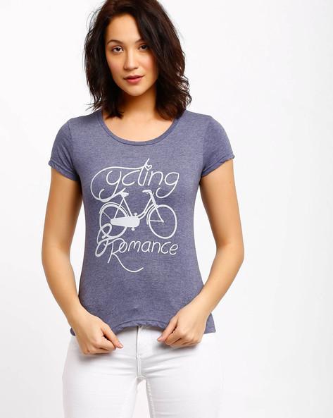 Printed T-shirt By AJIO ( Blue )