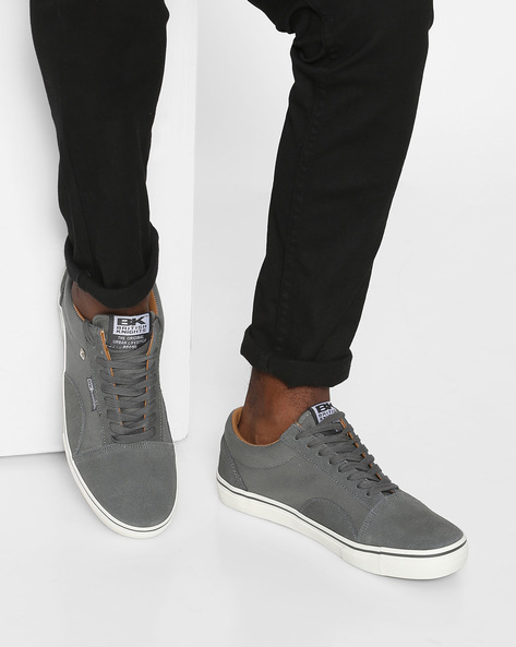 Casual Shoes With Panels By British Knights ( Darkgrey )