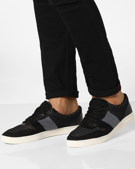 Colourblock Sneakers With Perforations By AJIO ( Grey )