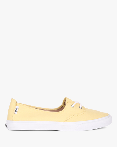 Solana SF Canvas Lace-Up Casual Shoes By Vans ( Yellow )