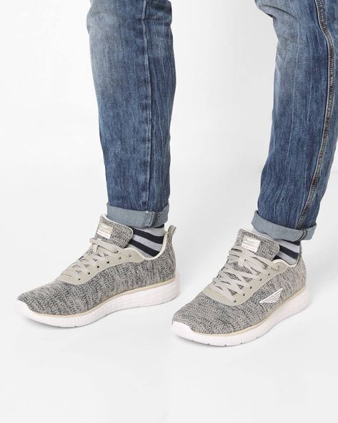 Textured Lace-Up Running Shoes By RED TAPE ( Grey )