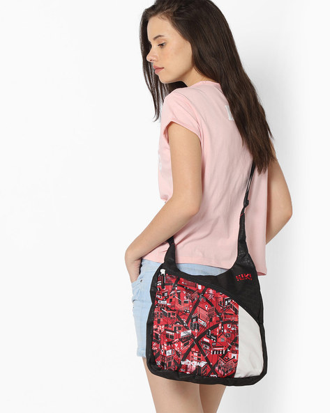 Printed Sling Bag With Adjustable Strap By Wildcraft ( Red )