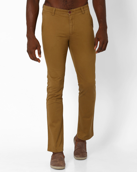 Abelo Slim Fit Trousers By Wills Lifestyle ( Brown )