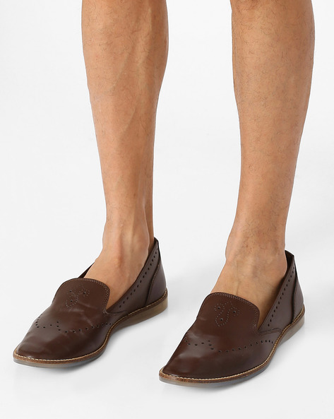 Ollivander Slip-Ons With Perforations By Knotty Derby ( Brown )