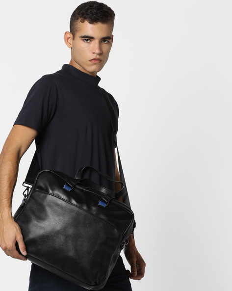 Laptop Messenger Bag By UNITED COLORS OF BENETTON ( Black )