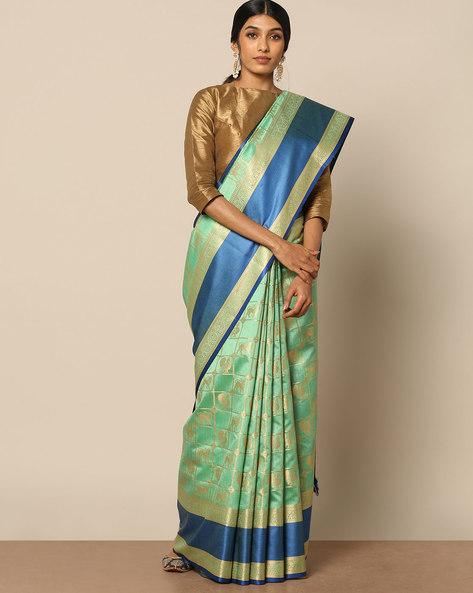 South Silk Kanakavali Design Saree By Pretty Woman ( Blue )