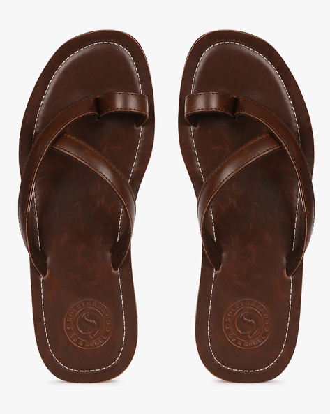 Toe-Ring Flip-Flops By Sole Threads ( Brown )