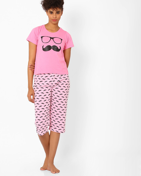Printed Lounge Set By Heart 2 Heart ( Pink )