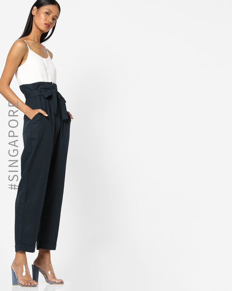 Strappy Jumpsuit With Waist Tie-Up By MDS ( Offwhite )
