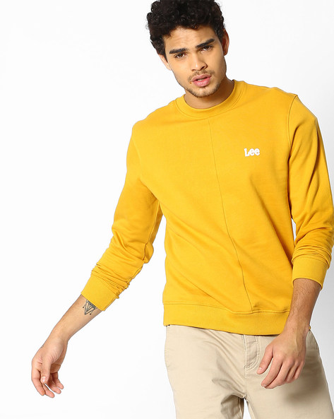 Printed Sweatshirt With Ribbed Hems By Lee ( Yellow )