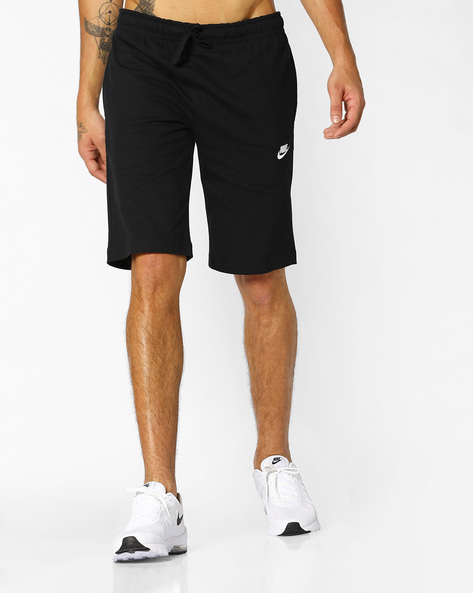 Mid-Rise Shorts With Drawstring Fastening By NIKE ( Black )