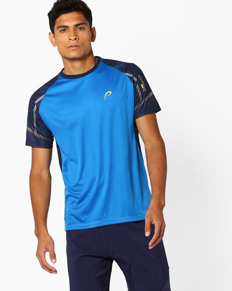 Crew-Neck T-shirt With Raglan Sleeves By PROLINE ( Darkblue )