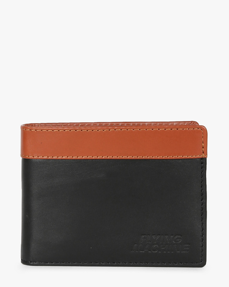 Leather Bi-fold Wallet By FLYING MACHINE ( Black )
