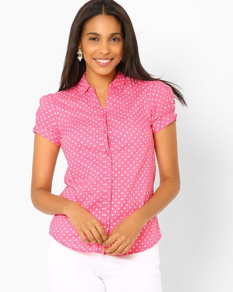 Polka Print Top By Honey By Pantaloons ( Pink )