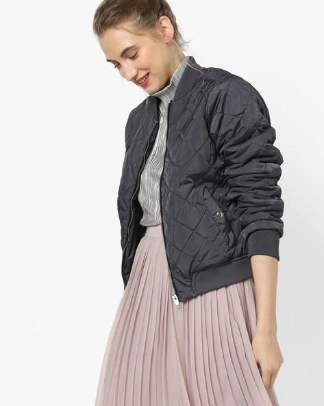 Quilted Zip-Front Jacket By Vero Moda ( Fuschiablue )