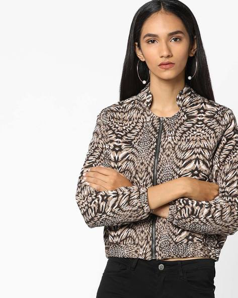 Quilted All-Over Print Jacket By Oxolloxo ( Multi )