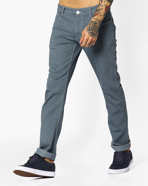 Slim Fit Low-Rise Jeans By JOHN PLAYERS ( Blue )