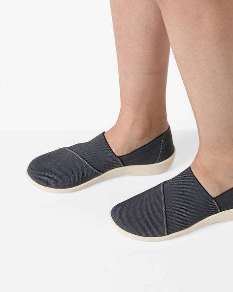 Sillian Firn Striped Panelled Slip-On Shoes By CLARKS ( Multi )