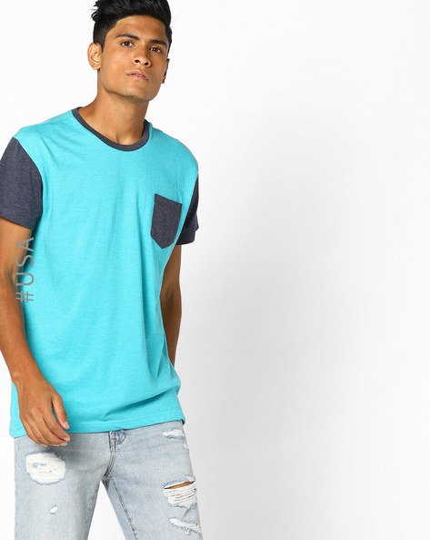 Colourblock Crew-Neck T-shirt By Aeropostale ( Aqua )