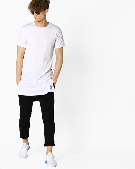 Longline T-shirt With Step-Hem By KULTPRIT ( White )