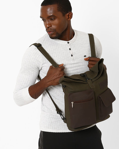 Everyday Backpack With Detachable Handles By FAMOZI ( Olive )