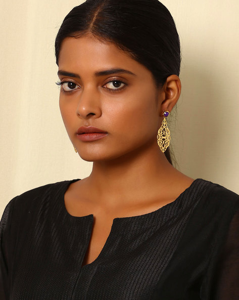 Gold-Plated Brass Drop-Earrings By Indie Picks ( Multi ) - 460045184001