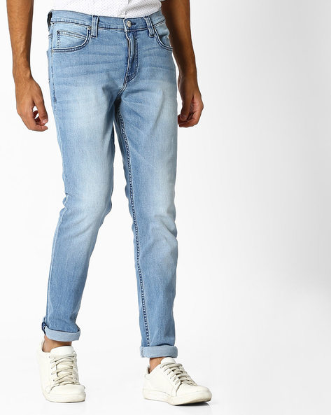 Lightly Washed Skinny Fit Jeans By Lee ( Blue ) - 460065586001
