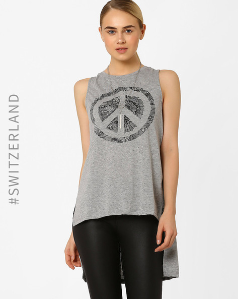 High-Low Tank Top By TALLY WEiJL ( Grey )