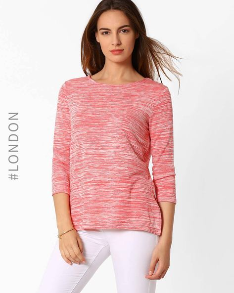 Space-Dye T-shirt By Marks & Spencer ( Lightpink )