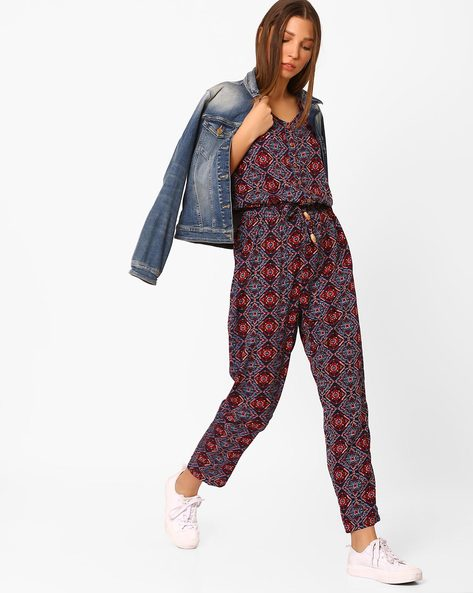 Printed Jumpsuit With Cold-Shoulder By Rena Love ( Multi )
