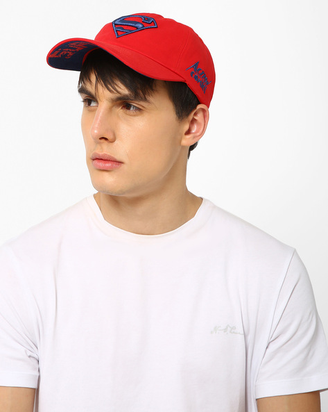 Baseball Cap With Superman Logo By DC COMICS ( Red )