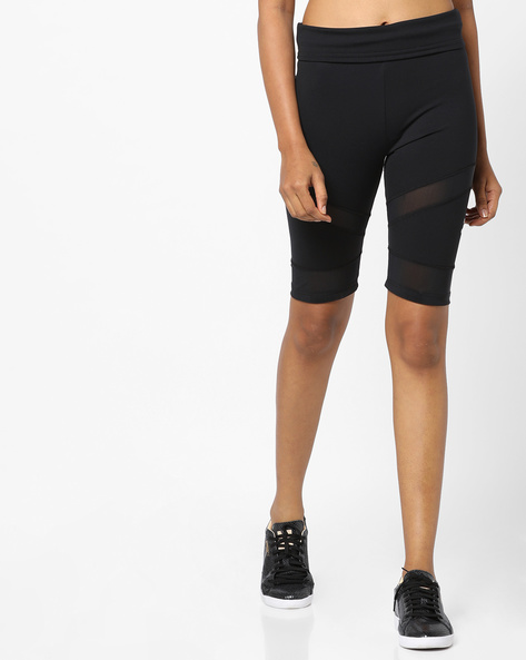 High-Rise Tights With Elasticated Waistband By Puma ( Black )