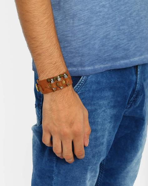 Leather Ammo Bandolier Bracelet By Alto Vida ( Brown )