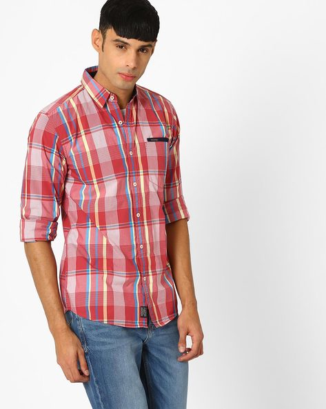 Trent Yarn Dyed Checked Shirt By WRANGLER ( Red )