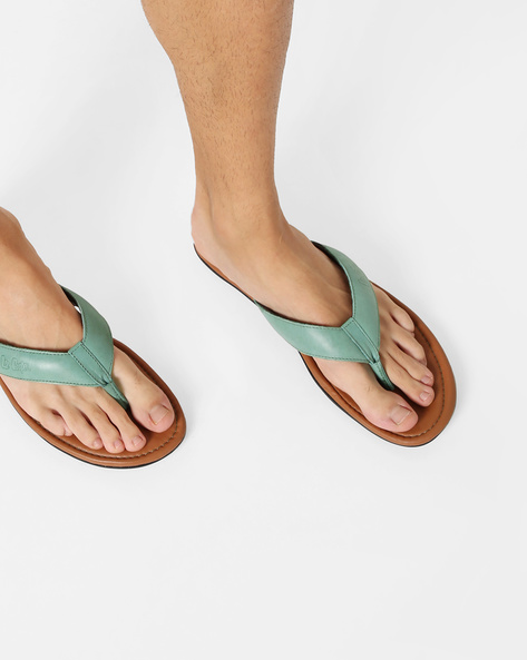 Thong-Strap Flip-Flops With Printed Branding By Lee Cooper ( Green )